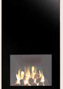 Gazco Futura Front - Black Glass