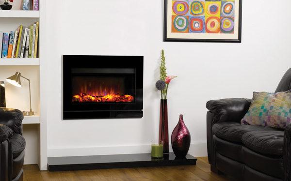 Gazco Riva2 670 Designio2 Black Glass electric fire
