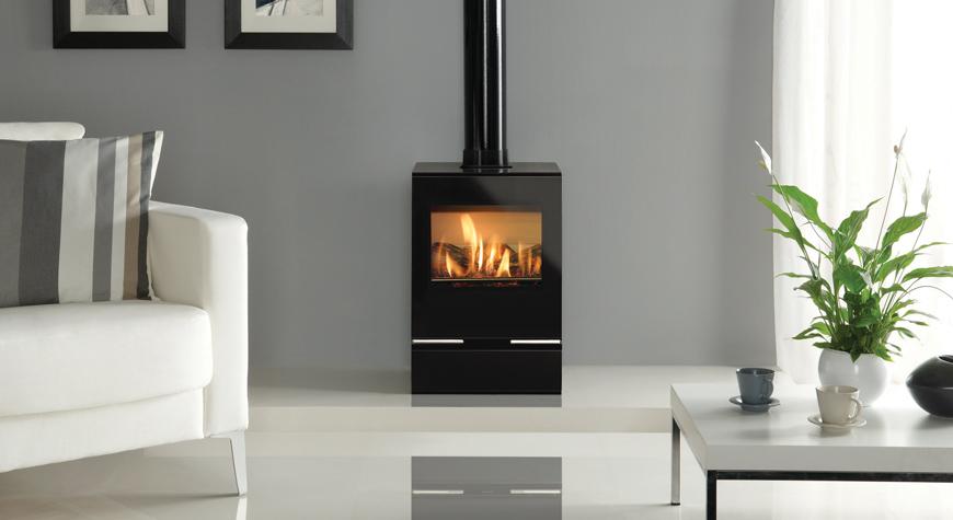 Gazco Riva Vision conventional flue gas stove