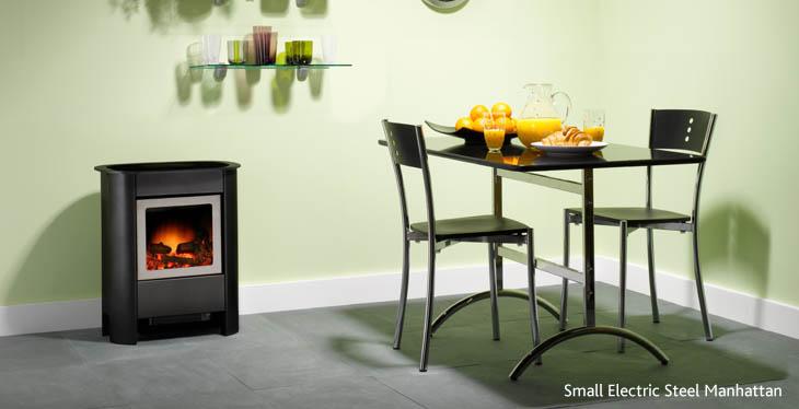 Gazco small Steel Manhattan electric stove